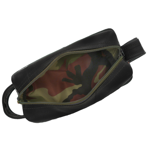 Dopp Kit Camo Made of Recycled Truck Tubes - shopalmostheaven
