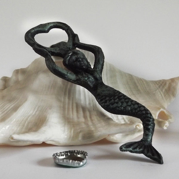 Mermaid Bottle Opener Green Finish - shopalmostheaven - 1