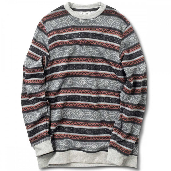 Fairisle Crewneck (Burgundy)