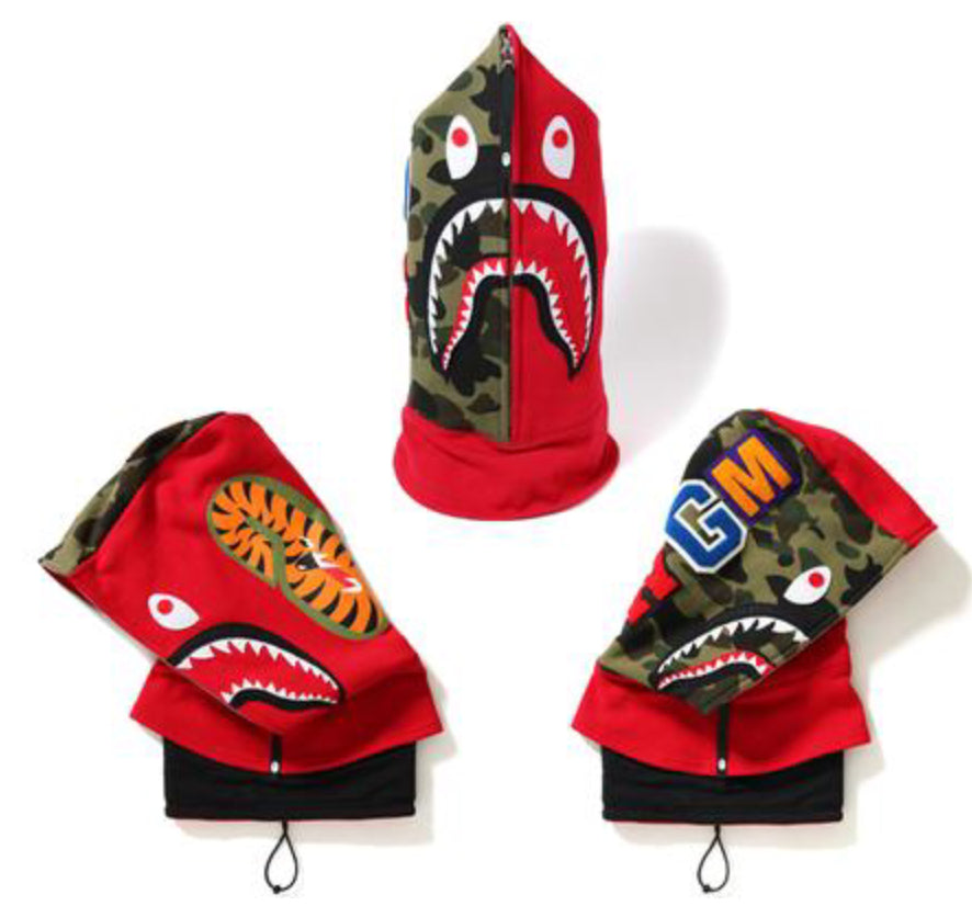 "Bape ""Shark"" Full Face Mask"