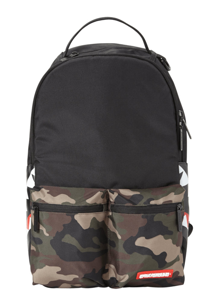 "Sprayground ""Camo Side Shark Cargo"" Backpack"