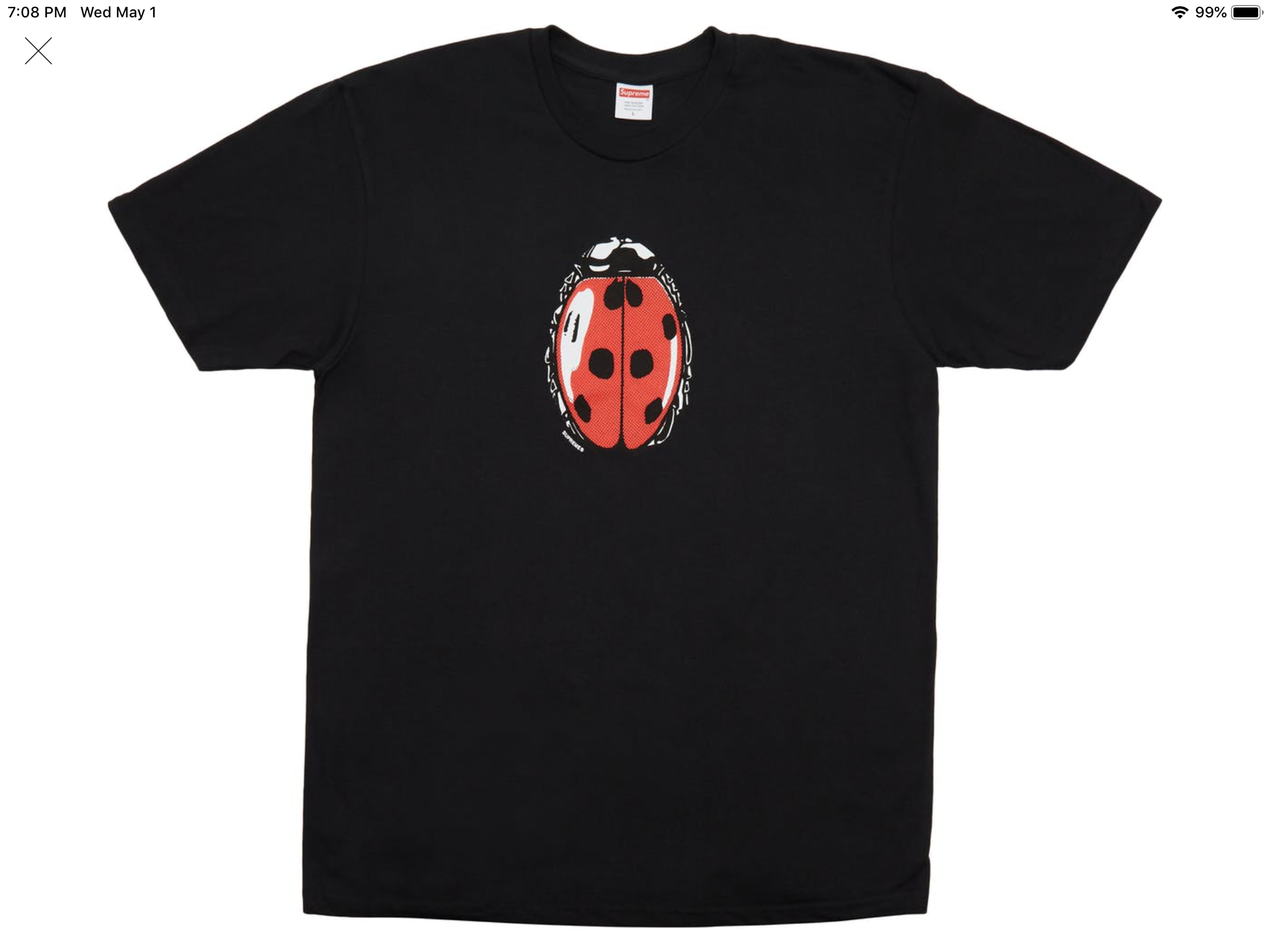 "Supreme ""Lady Bug"" T-Shirt"