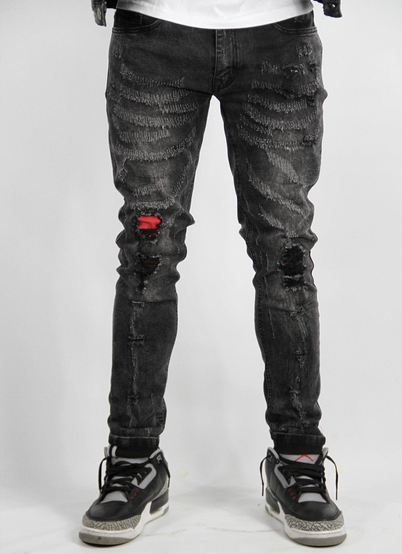 Revolutionary Jeans - Blk/Red