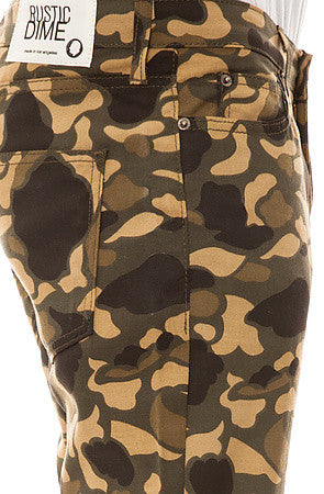 Slim Twill Pants (Bubble Camo Green)