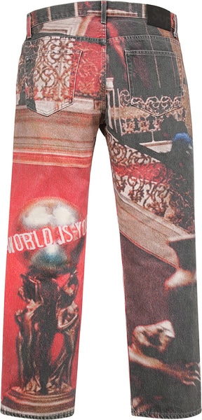 "Supreme x Scareface ""World Is Yours"" 5-Pocket Jeans"