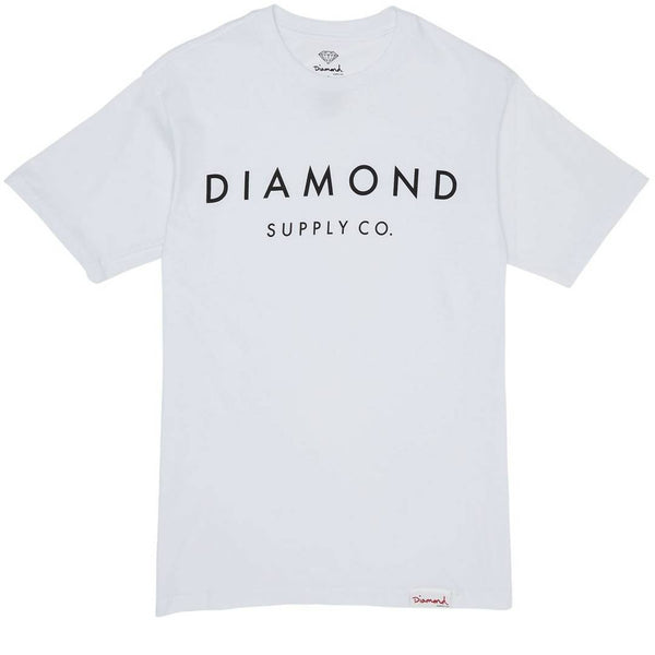 "Diamond Supply Co ""Stone Cut SP17"" Tee (White)"
