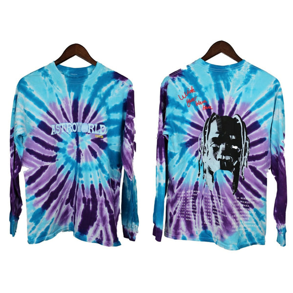 Travis Scott Astroworld Tie-Dye Long Sleeve Tee