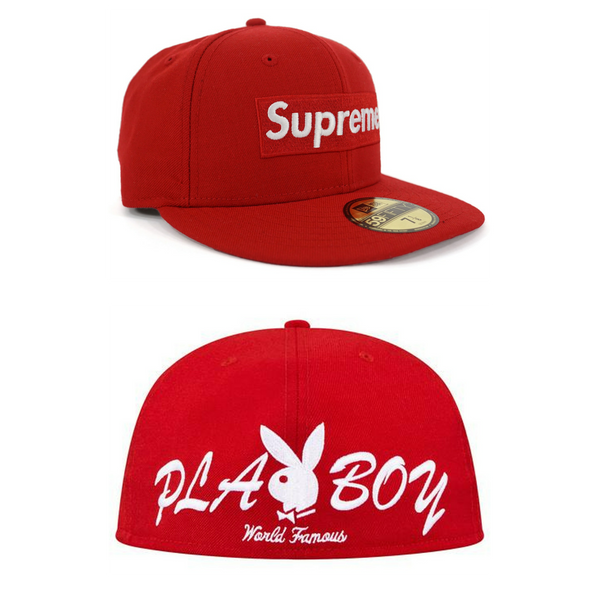 "Supreme x Playboy × New Era ""Box Logo"" Fitted Cap"
