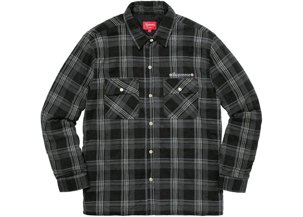 Supreme x Independent Flannel (Black)