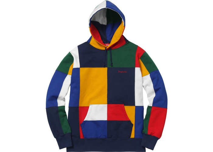 "Supreme ""Patchwork"" Hooded Sweatshirt"