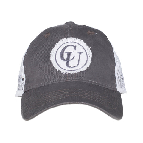 Distressed Charcoal Patch Hat