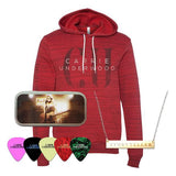 Red Fade Hoodie, Necklace, Pick Tin Pack