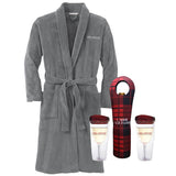 Plush Robe & Wine Tumbler Set Pack