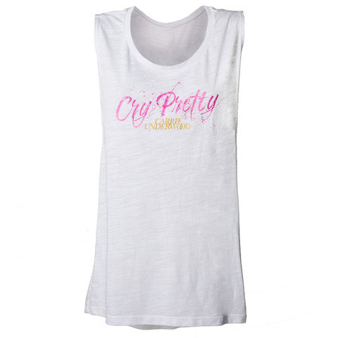 """Cry Pretty"" Muscle Tank Top"