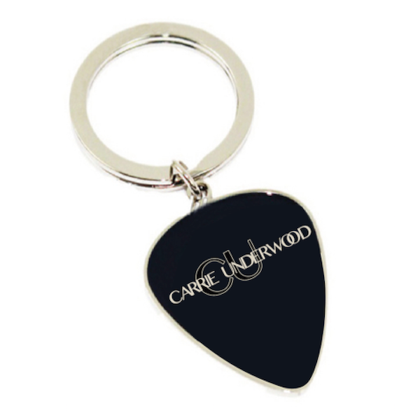 Black Pick Keychain