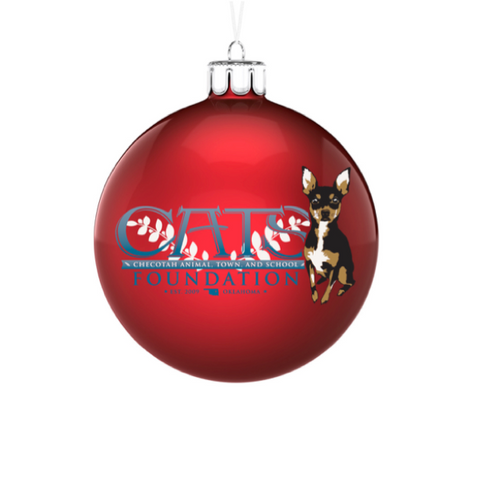 C.A.T.S. Foundation Red Bulb Ornament