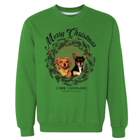 Merry Christmas Storyteller Sweater with Ace and Penny
