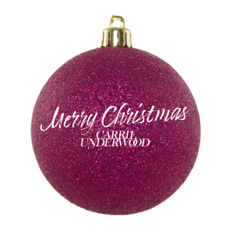 Merry Christmas Glitter Bulb Ornament