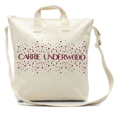 Glitter Print Canvas Bag
