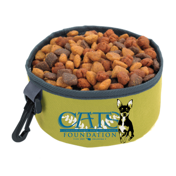 C.A.T.S. Foundation Travel Dog Bowl