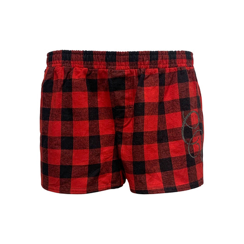 Red Flannel Pajama Shorts