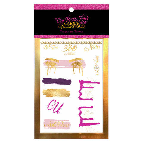 The Cry Pretty Tour 360 Temporary Tattoos