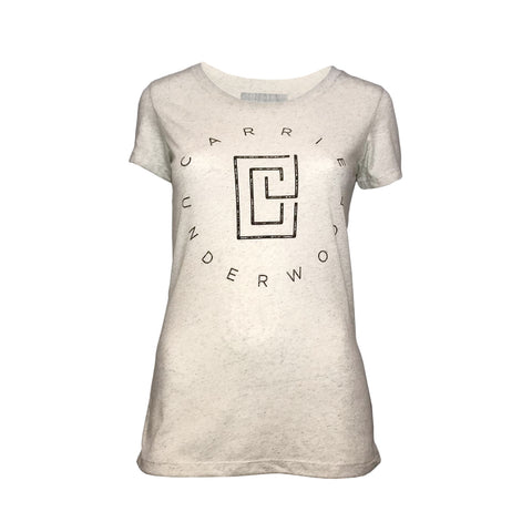 Ladies Oatmeal Circle Tee