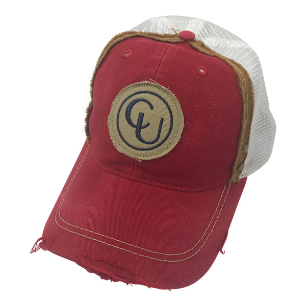 Distressed Red Patch Hat