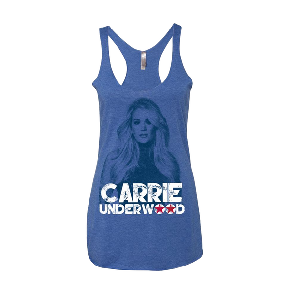 Blue Carrie Tank