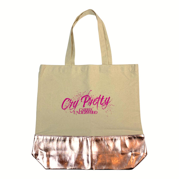 Cry Pretty Metallic Tote