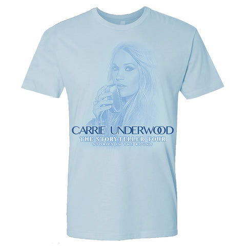 Ice Blue Admat Carrie T-Shirt