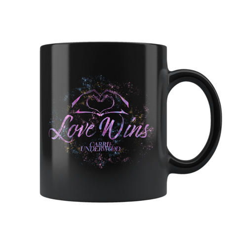 """Love Wins"" Black Mug"