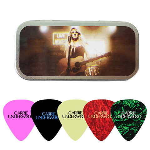 The Storyteller Tour Guitar Pick Tin with 5 Picks
