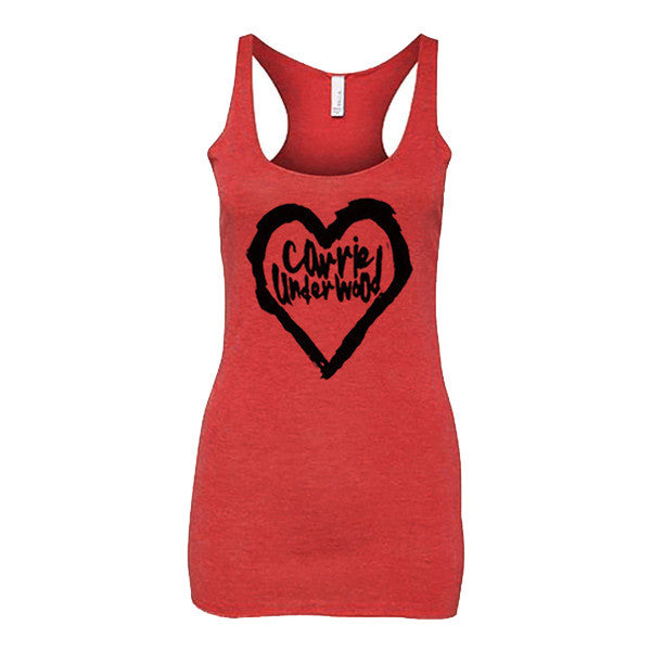 Red Heart Racerback Tank Top