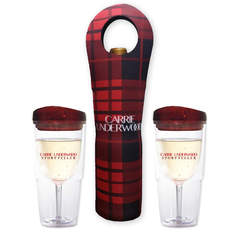 2 Wine Tumblers with Wine Sleeve