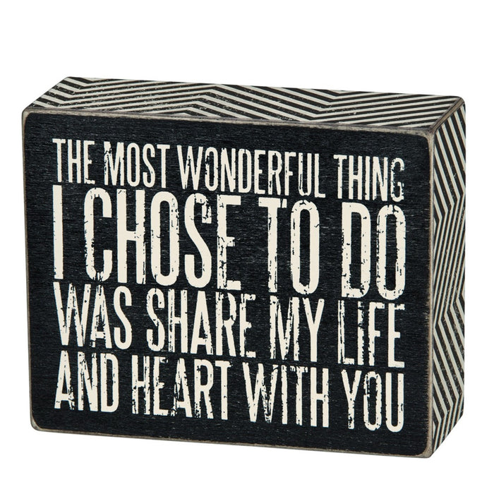 Share My Life Box Sign