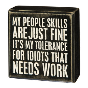 People Skills Box Sign
