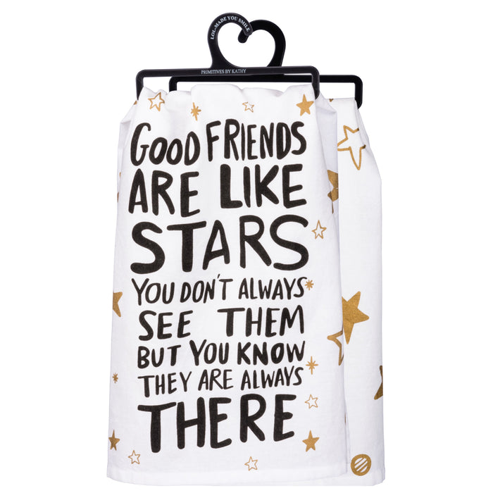 Friends Are Like Stars Dish Towel