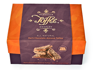 Dark Chocolate Almond Toffee - 1/2 lb Box