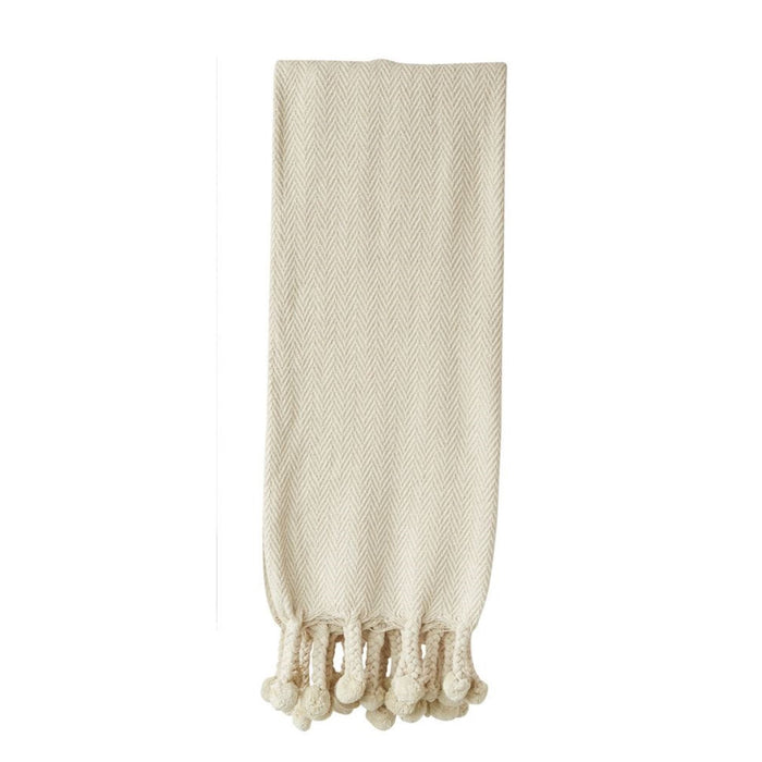 Cream Cotton Throw