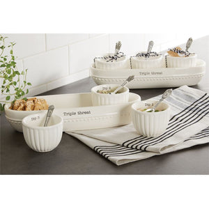 Dip & Cracker Bowl Set