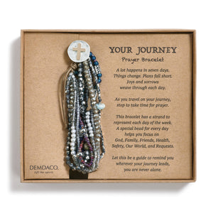 Your Journey Prayer Bracelet - Gray