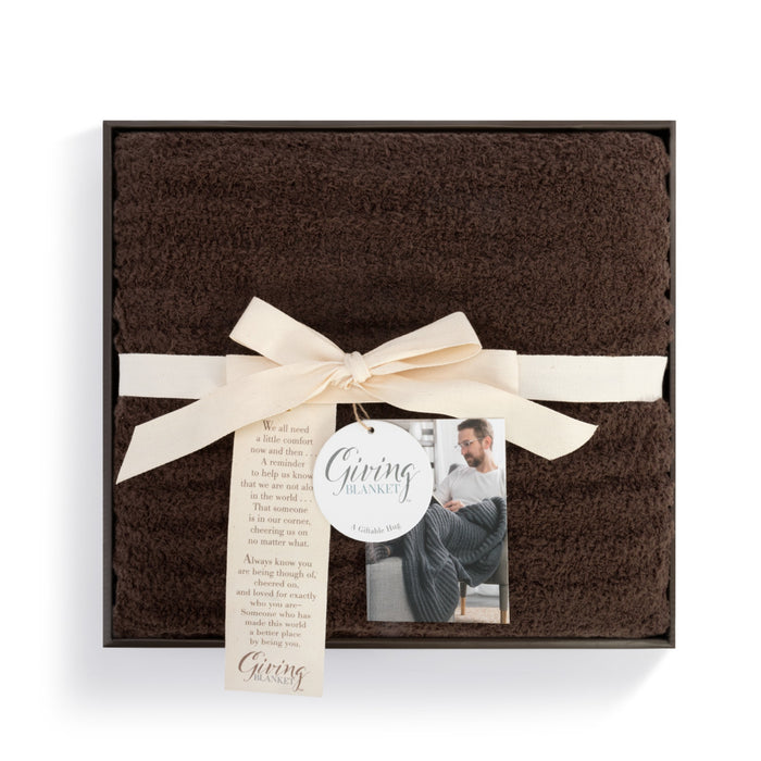 Mens Giving Blanket - Espresso