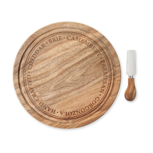 Rustic Farmhouse Rounded Cheese Board & Knife Set
