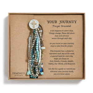 Your Journey Prayer Bracelet - Turquoise