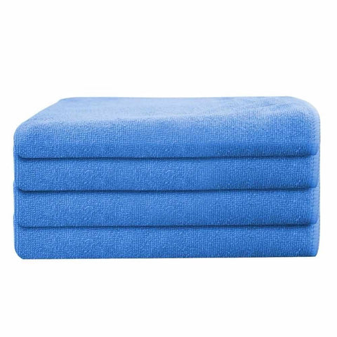 "Globe House Products GHP 24-Pcs 16""x16"" Blue 330GSM Ultra Absorbent Microfiber Cleaning Cloth Towels"