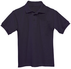 Lourdes Adult Knit  Polo S/S W Logo