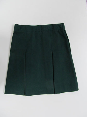 St Peters Solid Green Skirt : Size 3 -18