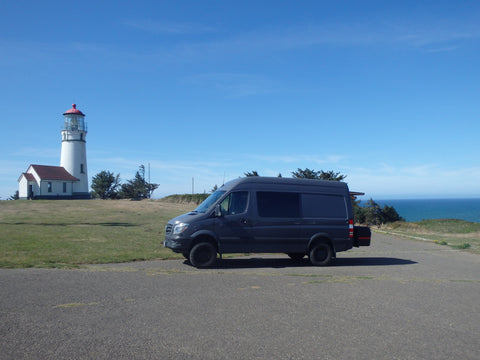 Spinter at Cape Blanco Lighthouse Oregon