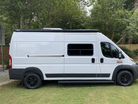 "Promaster 159"" wheel base with Fiamma F80S awning"